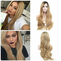 Blonde Darkroot Ombre Lace Front Wig