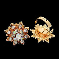 The Gold Colorburst Adjustable Ring