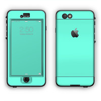 The Solid Mint V2 Apple iPhone 6 LifeProof Nuud Case Skin Set (Other Models Available!)