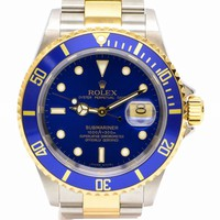 Authentic Rolex Submariner Wrist Watch Men SS Blue Gold Silver Automatic D