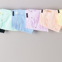 COLORFUL CUT OFF SHORTS