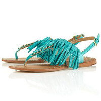 FRINGE Leather Tassle Sandals - New In This Week - New In - Topshop