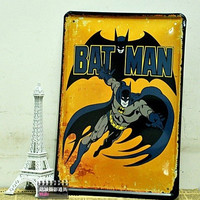 Personalized Batman Vintage Poster Retro Painting decorative picture Tin sign Iron Metal mural Painting Home Art Wall Decor = 1927914372
