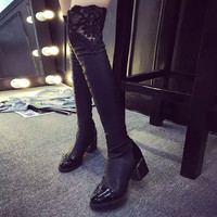 Women Thigh High Boots Over The Knee