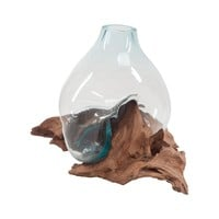Driftwood Glass Bottle Natural,Aqua