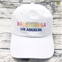 Balenciaga Fashion New Multicolor Embroidery Letter Women Men Cap Hat 4#