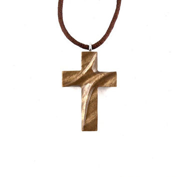 Wooden Cross Necklace, Wooden Cross Pendant, Cross Necklace, Cross Pendant, Wood Cross, Christian Jewelry, Hand Carved Cross, Cross Jewelry