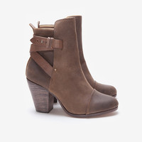 rag & bone Kinsey Brown Waxed Suede Ankle Boot -Boots-Shoes-Categories- IntermixOnline.com