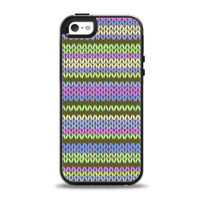 The Colorful Knit Pattern Apple iPhone 5-5s Otterbox Symmetry Case Skin Set