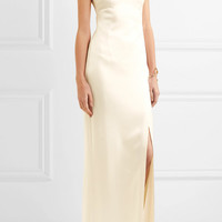Halston Heritage - Open-back satin gown