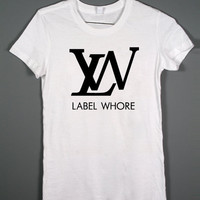 Label Whore - Louis Vuitton Parody - White Tshirt - women and mens clothing