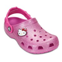 Crocs™ Hello Kitty® Kids' Glitter Clog in Party Pink