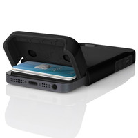 The Obsidian Black Incipio STASHBACK™ Dockable Credit Card Case for iPhone 5-5s