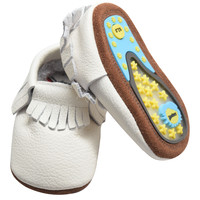 Snow- Rubber Sole Baby Moccs