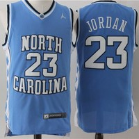 Best Sale Online NCAA University Basketball Jersey North Carolina NC State Wolfpack # 23 Michael Jordan Blue