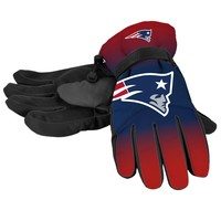 New England Patriots Official NFL Gradient Big Logo Insulated Gloves