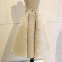 Custom Couture Dress Audrey Hepburn Inspired Lace 50s Wedding Gown