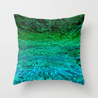 WATER Throw Pillow by catspaws