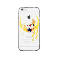 Sailor Moon Look At Apple iPhone 6 Plus Clear Case