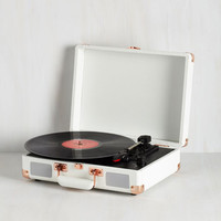 Music Take Your Turntable in White by ModCloth