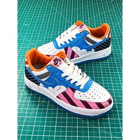 Parra X Nike Custom Air Force 1 Low White Muticolor Sport Shoes