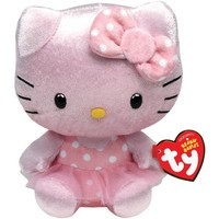 Pink Shimmer Hello Kitty Beanie Baby