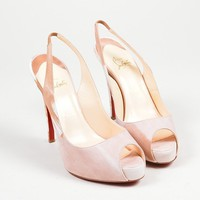 DCCK2 Christian Louboutin PinkChristian Louboutin Suede Woodstock No. Very Prive Pumps