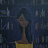 Original Portrait Painting - Ella Cloaked in Sonnets - African American painting