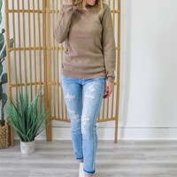 Apple Picking Sweater - Taupe