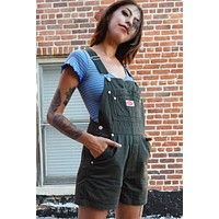 Over It Deadstock Overalls - Olive