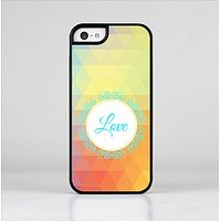 The HighLighted Colorful Triangular Love Skin-Sert for the Apple iPhone 5c Skin-Sert Case