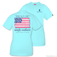 """Simply Southern """"American By Birth"""" Tee"""