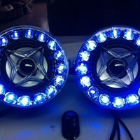 """Shark Shklxyj450 4"""" Motorcycle Atv All in One Audio with Led Light 100w / Alarm / Usb / Sd"""