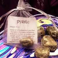 PYRITE Abundance Stone - Lucky Pocket Stone For Positive Outlook & Cash Flow - aka Fool's Gold