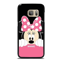 DISNEY MINNIE MOUSE CARTOON FLAT Samsung Galaxy S7 Case