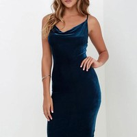 Velvet Body Con Dress - 3 Colors