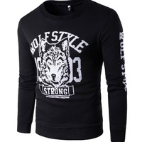 Men's Fashion Winter Hot Sale Round-neck Print Design Stylish Hoodies [10669406659]