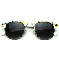 Super Cute Novelty Summer Fun Semi Rimless Sunglasses