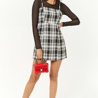 Plaid Print Mini Dress