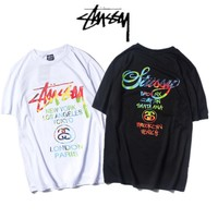 Stussy Short Sleeve Summer Unisex Couple T-shirts [11501024012]