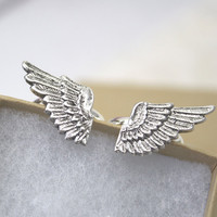 Wings Ring Set Best Friends Friendship Silver Plated
