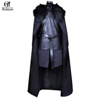 Great Outfit Rolecos American TV Series Game of Thrones  Jon Snow Cosplay Knight Role Play Costume