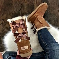Ugg Fashion Leisure Bow Boots Shoes