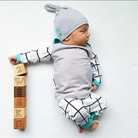 2017 autumn style baby boy clothing sets cotton long sleeve infant 3pcs suit baby boys clothes newborn toddler outfits