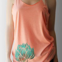 Lotus on Hip -Yoga Tank Top 6 Color Choices