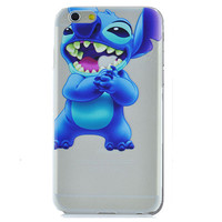 Disney Lilo & Stitch Eating Logo Clear Transparent Case For Apple Iphone 5/ 5s /SE
