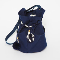 LOTFI | Dia Bag Large- Navy