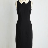 Vintage Inspired Long Sleeveless Sheath New Pearl in Town Dress