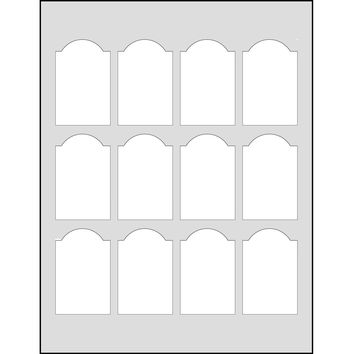 Dashleigh 60 Printable Cardstock Small Dome Rectangle Hang Tags, Personalize and Custom Tags, Ultra Micro Perforated, 1.75 x 2.75 inches, White