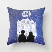 It's a Paper Town Night Throw Pillow by Anthony Londer